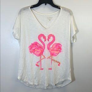 Lilly Pulitzer Flamingo T Shirt Size Medium